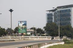Opinión de la calle en Accra, Ghana fotografía de archivo libre de regalías