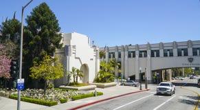 Opinión de la calle en Beverly Hills Civic Center - LOS ÁNGELES - CALIFORNIA - 20 de abril de 2017 Fotos de archivo