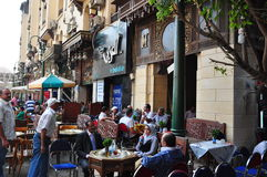 Opinión de la calle en El Cairo Imagen de archivo