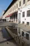Opinión de la calle en Hanu Manuc, Bucarest Foto de archivo