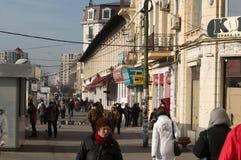Opinión de la calle en Hanu Manuc, Bucarest Fotos de archivo libres de regalías