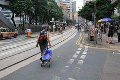 Opinión de la calle en Hong Kong North Point Foto de archivo
