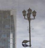 Opinión de la calle en la calle peatonal, Ekaterimburgo, Federación Rusa foto de archivo libre de regalías