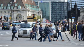 Opinión de la calle en Londres central Imagen de archivo libre de regalías