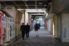 Opinión de la calle en Osaka, Japón Fotos de archivo libres de regalías
