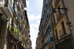 Opinión de la calle en Pamplona Fotos de archivo