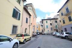 Opinión de la calle en Pisa, Italia Fotos de archivo libres de regalías