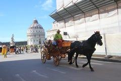 Opinión de la calle en Pisa, Italia Fotografía de archivo libre de regalías