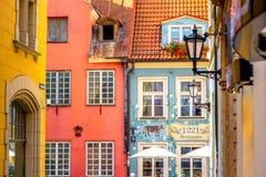 Opinión de la calle en Riga Fotos de archivo libres de regalías