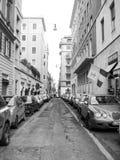 Opinión de la calle en Roma Foto de archivo libre de regalías