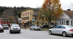 Opinión de la calle en Stowe, Vermont 4K