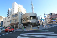 Opinión de la calle en Tokio Fotografía de archivo libre de regalías