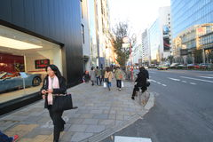 Opinión de la calle en Tokio Fotos de archivo libres de regalías