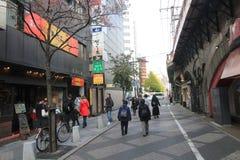 Opinión de la calle en Tokio Imagen de archivo libre de regalías