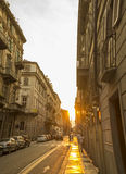 Opinión de la calle en Turín Fotos de archivo libres de regalías