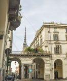 Opinión de la calle en Turín Imagenes de archivo