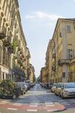 Opinión de la calle en Turín Foto de archivo libre de regalías