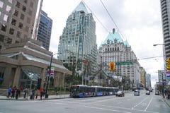 Opinión de la calle en Vancouver - VANCOUVER - CANADÁ céntricos - 12 de abril de 2017 Fotografía de archivo
