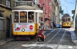 Opinión de la calle de Lisboa Fotos de archivo