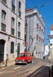 Opinión de la calle de Lisboa Fotografía de archivo