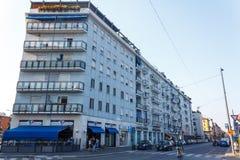Opinión de la calle, Milán Fotos de archivo
