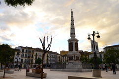 Opinión de la calle Plaza de la Merced en el laga del ¡de MÃ, España imagen de archivo libre de regalías