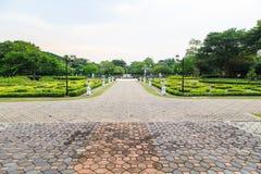 Opinión de la calzada, jardín botánico Imagen de archivo