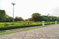 Opinión de la calzada, jardín botánico Imagen de archivo libre de regalías