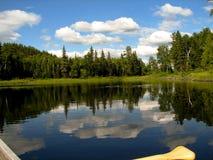 Opinión de la canoa Imagen de archivo libre de regalías