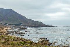 Opinión de la carretera de la Costa del Pacífico Fotografía de archivo libre de regalías