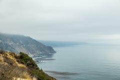 Opinión de la carretera de la Costa del Pacífico Imagen de archivo