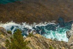 Opinión de la carretera de la Costa del Pacífico Foto de archivo libre de regalías