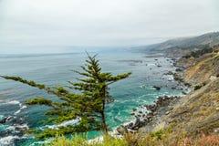 Opinión de la carretera de la Costa del Pacífico Fotos de archivo libres de regalías