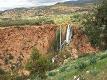 Opinión de la cascada Imagen de archivo libre de regalías