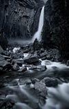 Opinión de la cascada de Yosemite Fotografía de archivo