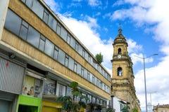 Opinión de la catedral de Bogotá Fotografía de archivo libre de regalías