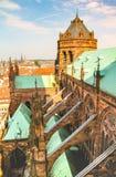 Opinión de la catedral de Estrasburgo Imagen de archivo libre de regalías
