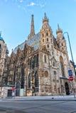 Opinión de la catedral de St Stephen en Viena, Austria imágenes de archivo libres de regalías