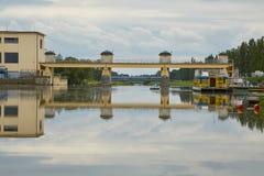 Opinión de la central hidroeléctrica Fotografía de archivo libre de regalías