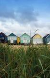 Opinión de la choza de la playa foto de archivo libre de regalías