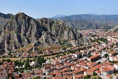 Opinión de la ciudad de Amasya fotografía de archivo