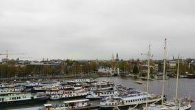 Opinión de la ciudad de Amsterdam almacen de video