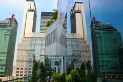 Opinión de la ciudad de Bangkok, Tailandia en el mediodía fotos de archivo