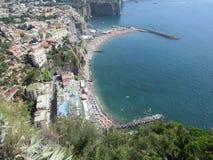Opinión de la ciudad de Capri fotos de archivo libres de regalías