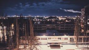 Opinión de la ciudad con el balcón Fotos de archivo