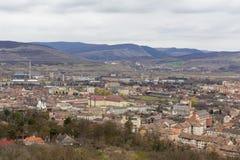 Opinión de la ciudad de Aiud imagen de archivo libre de regalías