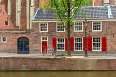 Opinión de la ciudad de Amsterdam fotografía de archivo libre de regalías