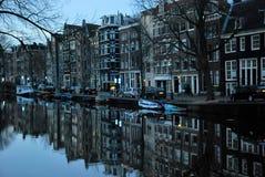 Opinión de la ciudad de Amsterdam Fotos de archivo libres de regalías