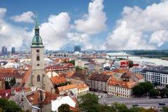 Opinión de la ciudad de arriba Fotos de archivo