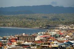 Opinión de la ciudad de Baracoa imagen de archivo libre de regalías